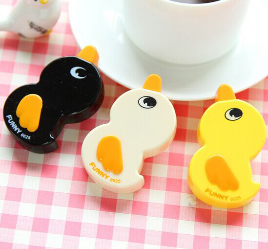 3pcs/set Kawaii Office Stationery Corrective Tape For Kids & Students / Cartoon Yellow Duck Style Office Correction Tape