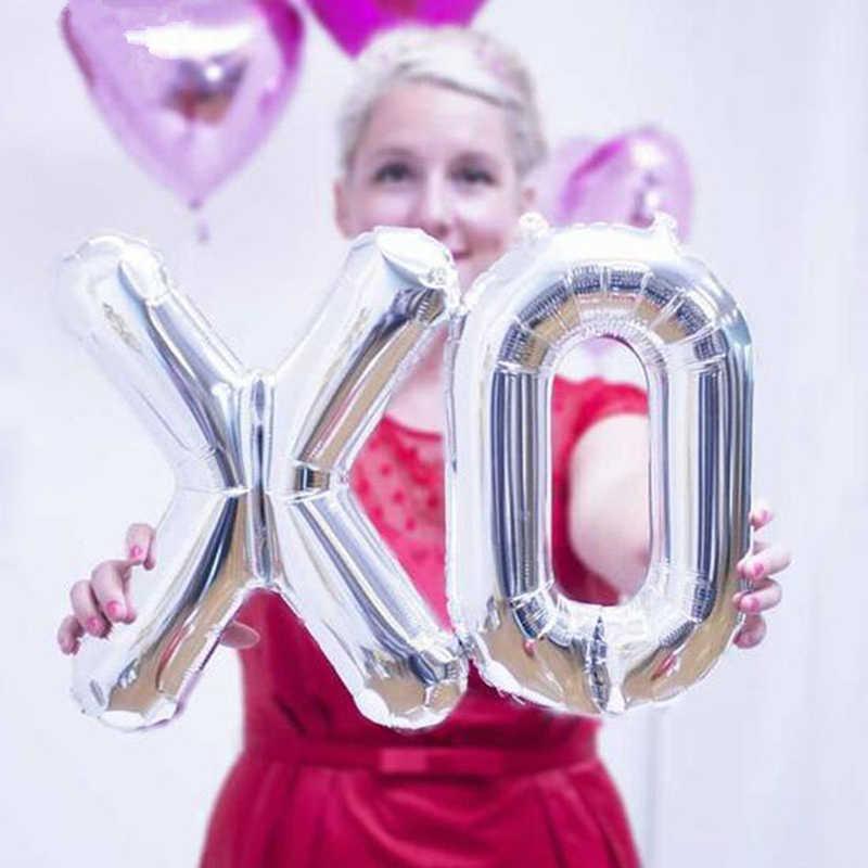 Globos de letras del alfabeto de 16 pulgadas suministros de fiesta de cumpleaños para niños globos de aluminio decoración de boda oro plata inflable globo de aire