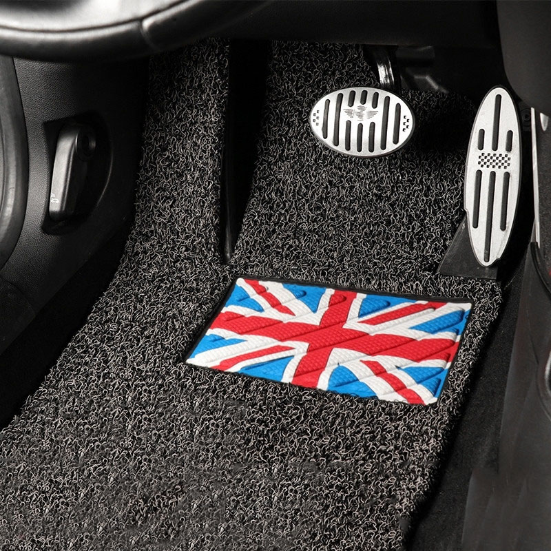 PVC Front Rear Full Set Car Floor Mats Carpet Auto Interior Anti-Slip Pad For Mini Cooper F56 Car Styling Accessories auto vehicle floor mat full set ridged anti slip universal car fit front rear 4 piece pvc rubber floor mat waterproof non slip