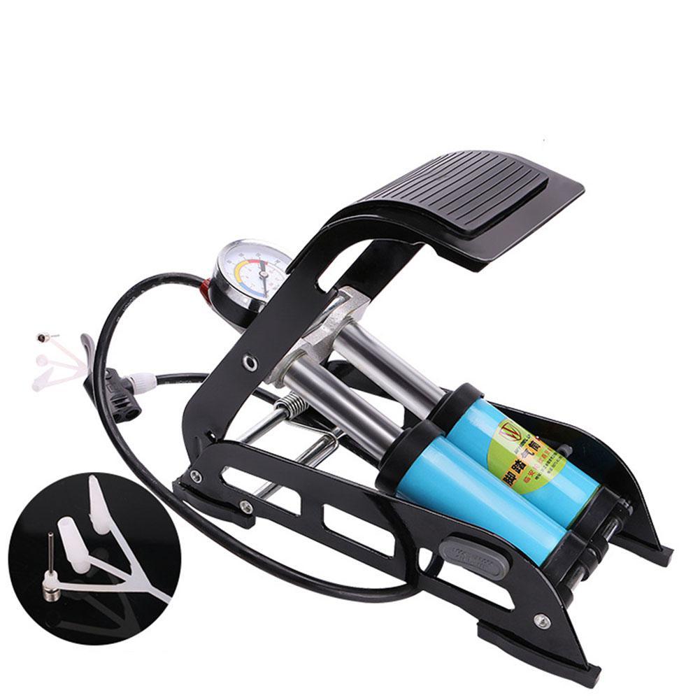 Pompe à vélo de vélo de pied à haute pression de baril de Mounchain avec la jauge pour le gonfleur d'air de boules de pneu de moto de voiture de bicyclette