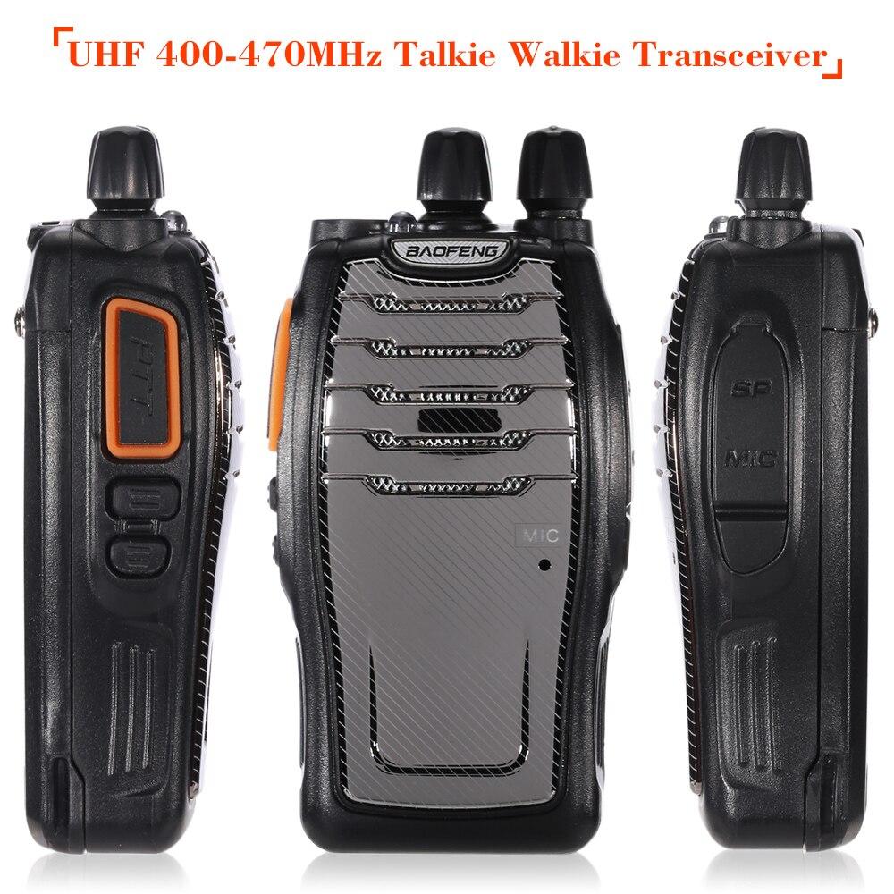 16ch Fm Uhf 400-470 Mhz Talkie Walkie Transceiver 2-way Radio Portable Handheld Sprech Fern 4200 Mah Taschenlampe