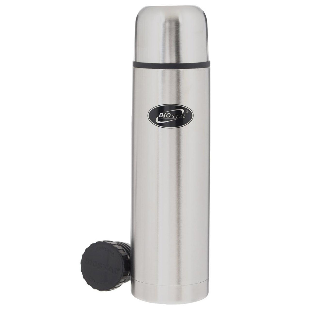 Thermos BIOSTAL NB-1000 (Volume 1 liter, stainless steel, time of heat preservation 19 hours, second Plug included) acacia 1633301 outdoor double layer heat preservation stainless steel kettle silver 750ml