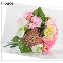 hydrangea orchid silk artificial roses decorative wedding flowers fake peony for home room