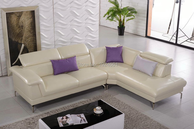 Chaise Sectional Sofa Chair Real European Style Living Room Sofas ...