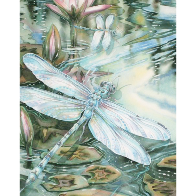Full Diamond Painting The Dragonfly Diy Diamond Embroidery A Classic Style Decorated The Living Room A Good Gift For The Family