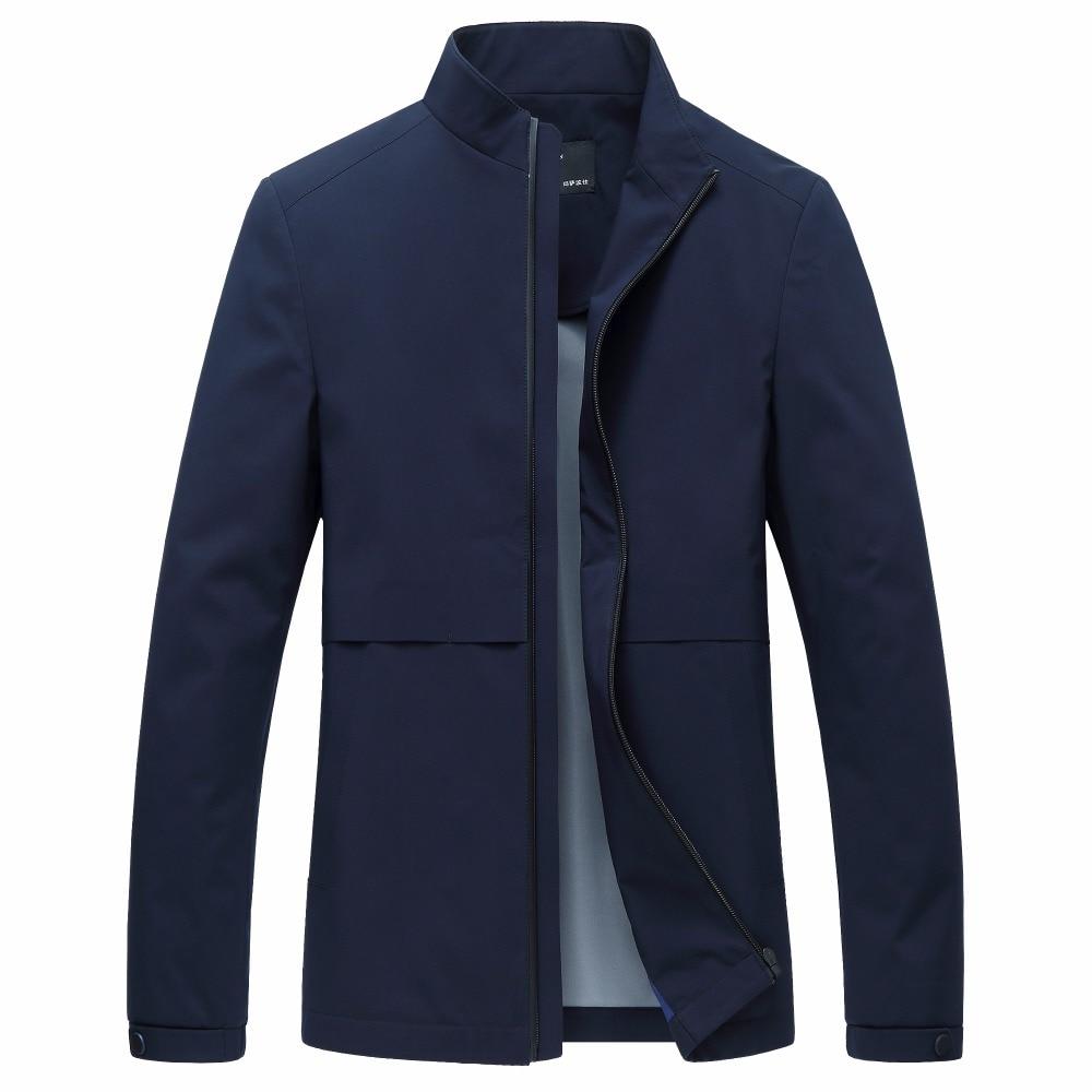 JZ CHIEF Mens Mandarin Coat Jacket Motorcycle Rib sleeve Jackets Men Fashion Zipper Overcoat Stand Collar Outerwear waterpoof