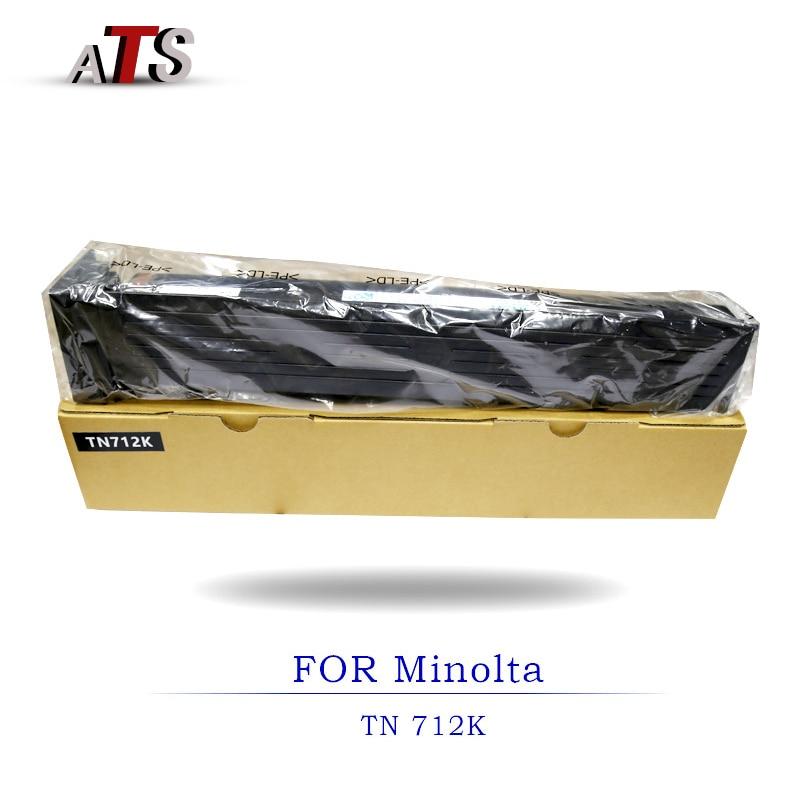 950G photocopier fitting Black Toner Cartridge For Minolta TN712 bizhub 754E 654E Copier Spare Parts BH754e BH654e toner powder 1pcs compatible developer for minolta 7020 7022 7030 7130 7025 copier parts