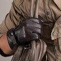 Free shipping Kursheuel Men Touch Screen Italian Nappa Leather winter super warm Gloves KU-013