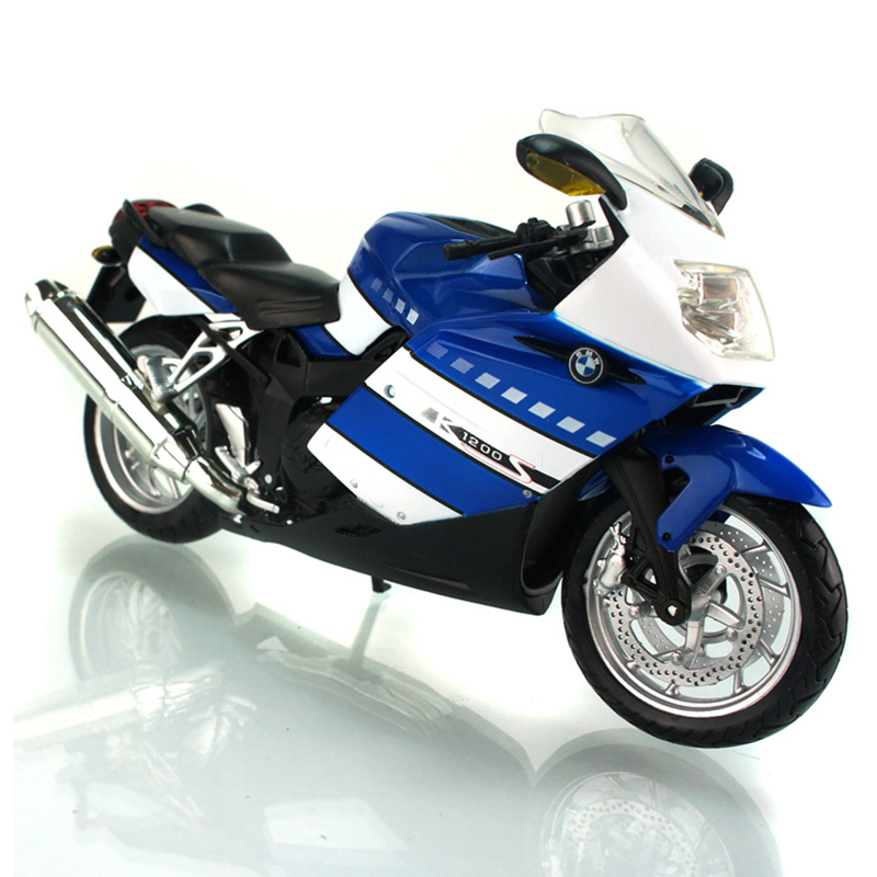 K1200S Blue 1:12 motorcycle model 1:12 scale metal diecast models motor bike miniature race Toy For Gift Collection