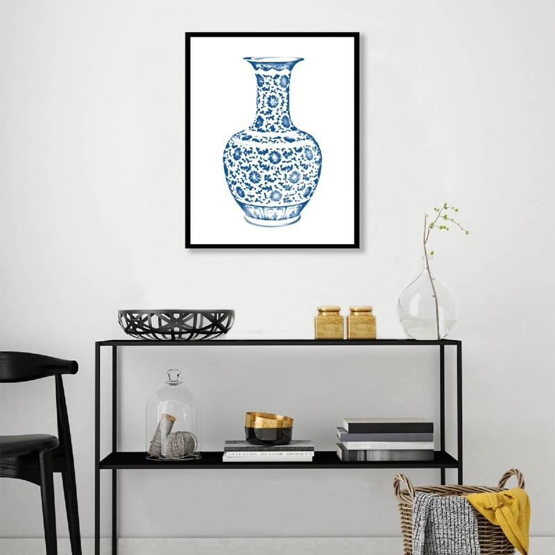 Chinoiserie Vases Wall Art Print Living Room Decor