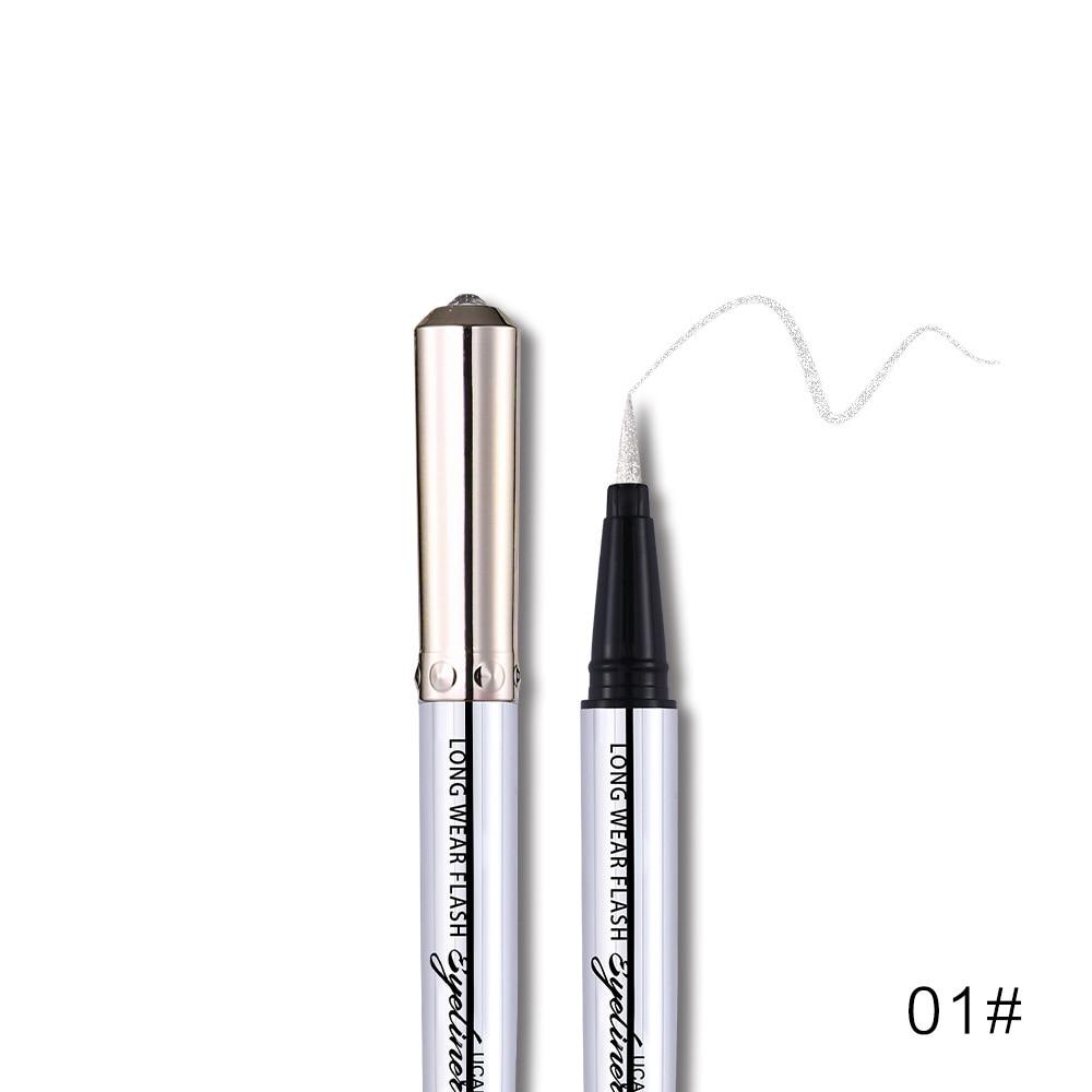 Ucanbe makeup glitter eyeliner pencil 5colors purple blue green eye liner waterproof long lasting liquid white eyeliner AU045 4