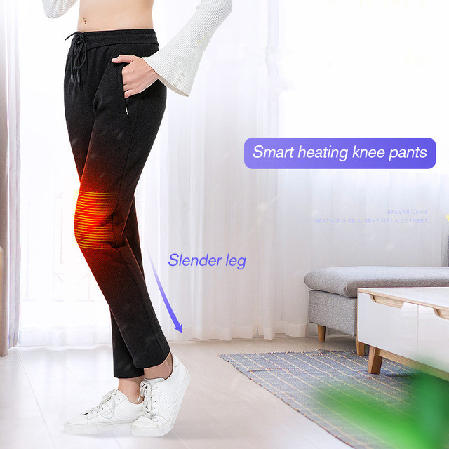 2019 USB Heated Pants Women Heating Pants Sports Outdoor Hiking Skiing Winter Smart Fever Cotton Trousers Climbing 3
