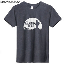 The Walking Dead T shirt American Dream Tee O- neck Short Sleeve Big Size Mens T shirts Fasion 2017 Print Cotton Black S-3XL Top