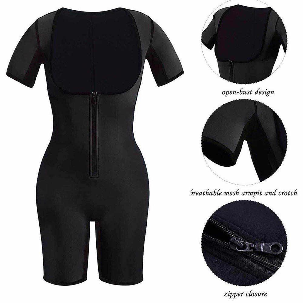 HEXIN Neo бандаж для похудения неопреновый костюм с рукавами Формирователи тела для утягивающий для сауны тренировки Fajas Корректирующее белье с триммером