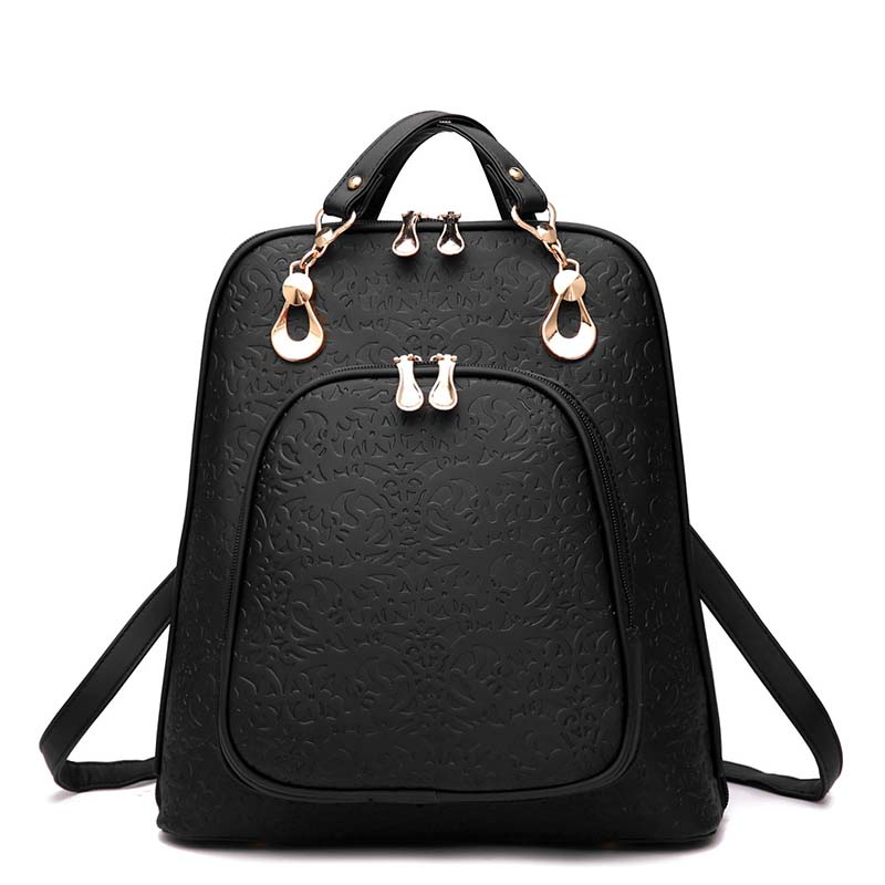 2017 New Fashion Women Backpack School Bags Pu Leather Package Female For Ladies Luxury Designer On Sale Travel Bags