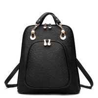 2017 New Fashion Women Backpack School Bags Pu Leather Package Female For Ladies Luxury Designer On