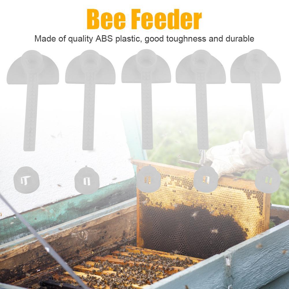 5Pcs Plastic Bee Feeder Water Drink Feeding Beekeeping Apiculture Tool Beehive