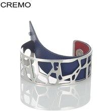 Cremo Giraffe Bangles For Women Love Stainless Steel Bracelets Bijoux Femme Manchette Reversible Opening Arm Bangle Pulseiras