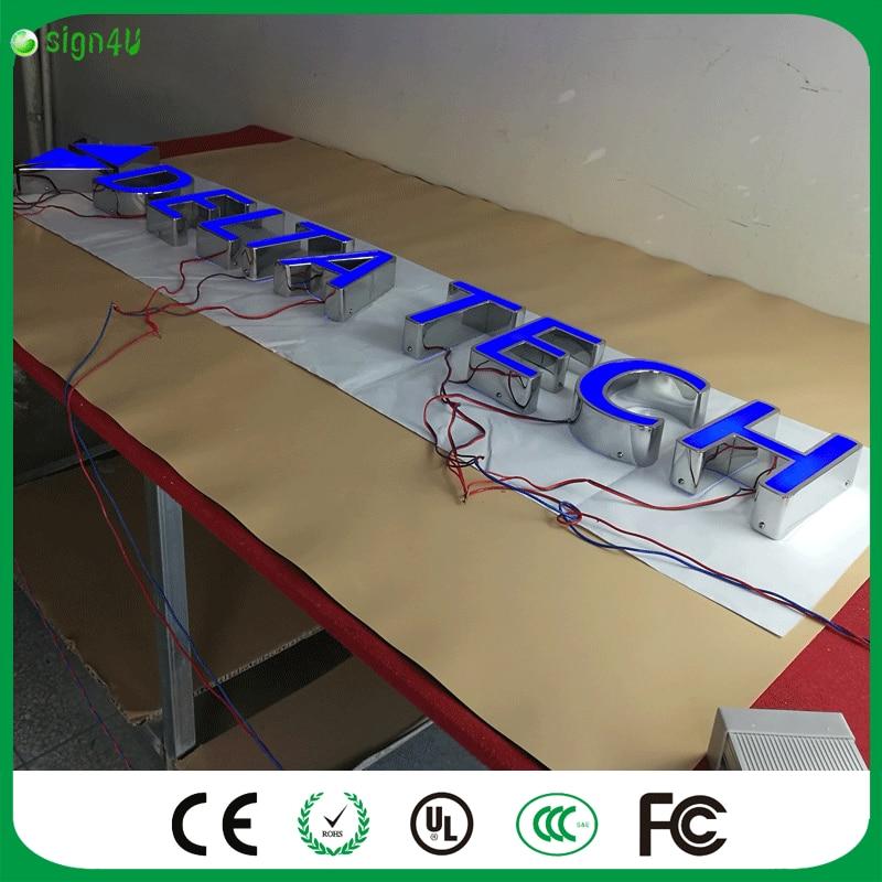Design filialisten signage 3d führte kanalbuchstaben