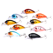 50PCS 4g/4.5cm isca artificial crankbait fishing lures diving fishing baits bass pike pesca fishing tackles 4pcs lot fishing lures wobbler tackle sequin spoon wobble spinner baits crankbait bass with feather hooks pesca isca artificial