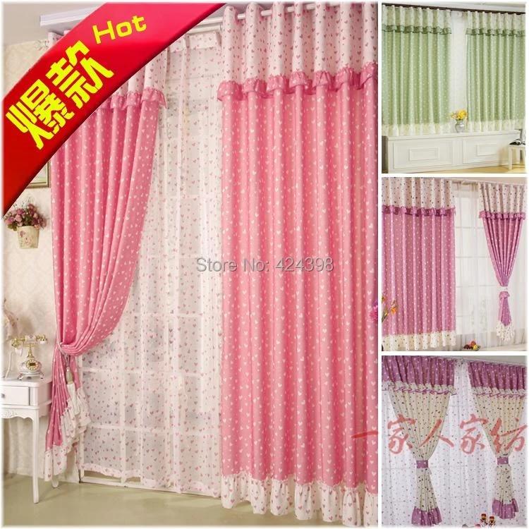 morden petite fenetre rideaux pour salon chambre fille princesse enfant rustique courtes rose vert violet dentelle rideau cortinas