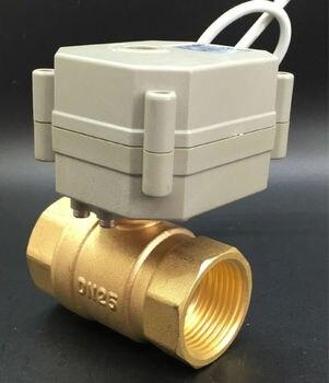 Normal Open/Close Válvula TF25-B2-C AC/DC9-24V 2 Fios de Bronze DN25 1 ''Elétrica Válvula de Corte Pode em vez De Válvula Solenóide
