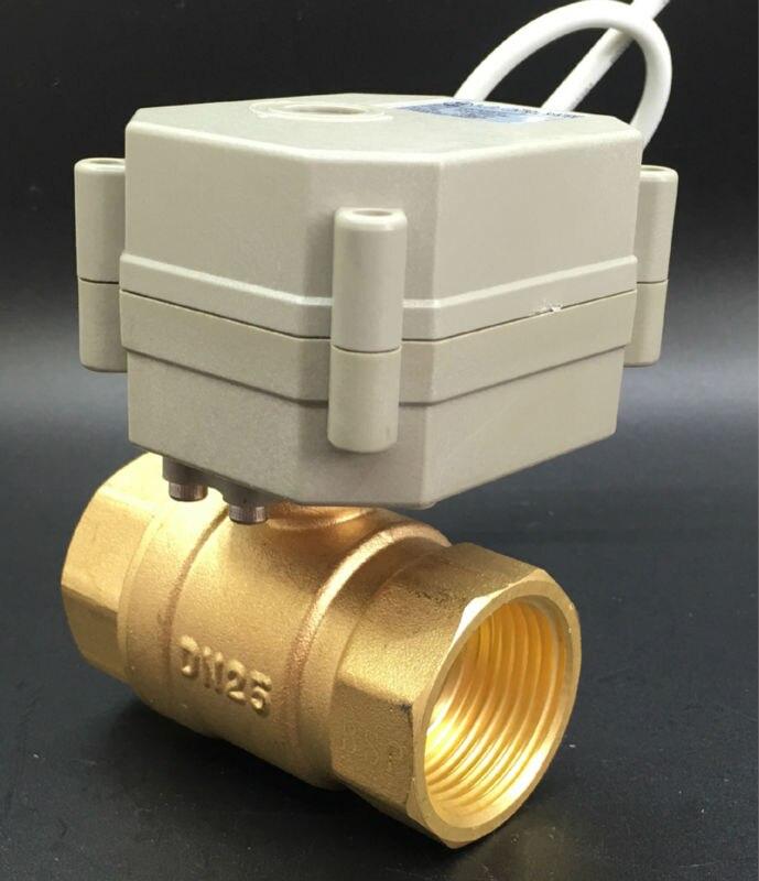 Normal Open/Schließen Ventil TF25-B2-C AC/DC9-24V 2 Drähte Messing DN25 1 ''Elektrische Absperrventil Können Statt Magnetventil