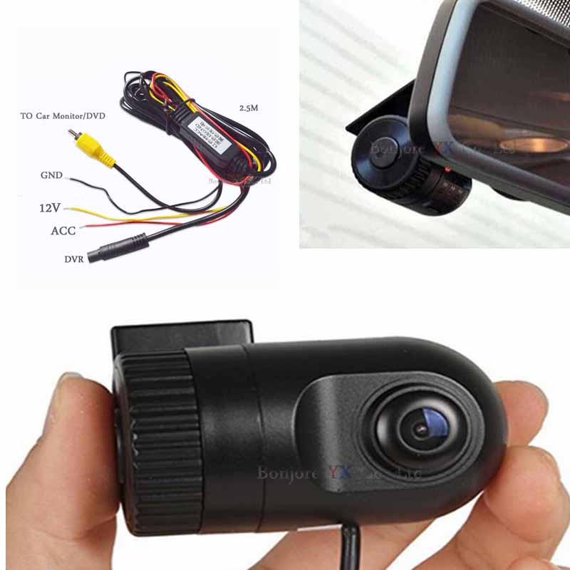 Mini Car DVR Camera Dash Cam Video AV RCA input Recorder Night Vision HD 1920P Front Camera Tachograph Safe Asystem