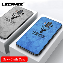 DEER Patterned Cloth Cover for Huawei Mate 10 lite Fabric Silicone Soft Matte Case 20 9 Pro
