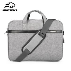 "KINGSONS 2018 New Brand Case For Laptop 11"",12"",13"",14"",15"" Messenger Handbag Sleeve Bag For Business Travel(China)"