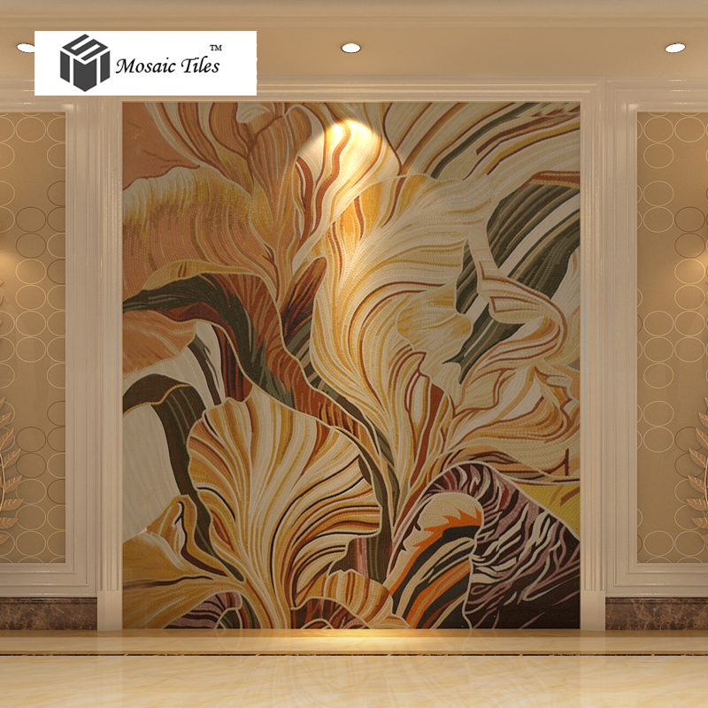 Abstract Flower Leaf Painting Parquet Environment Friendly Jade Glass  Mosaic Tile Bisazza Design Unique Custom Home Deco Mosaic On Aliexpress.com  | Alibaba ...