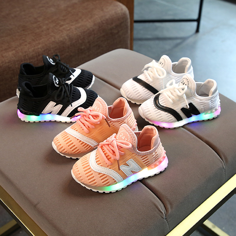 unisex girls boys hot sales children casual shoes lace up hot sales boys girls sneakers mesh all season kids toddlers footwear