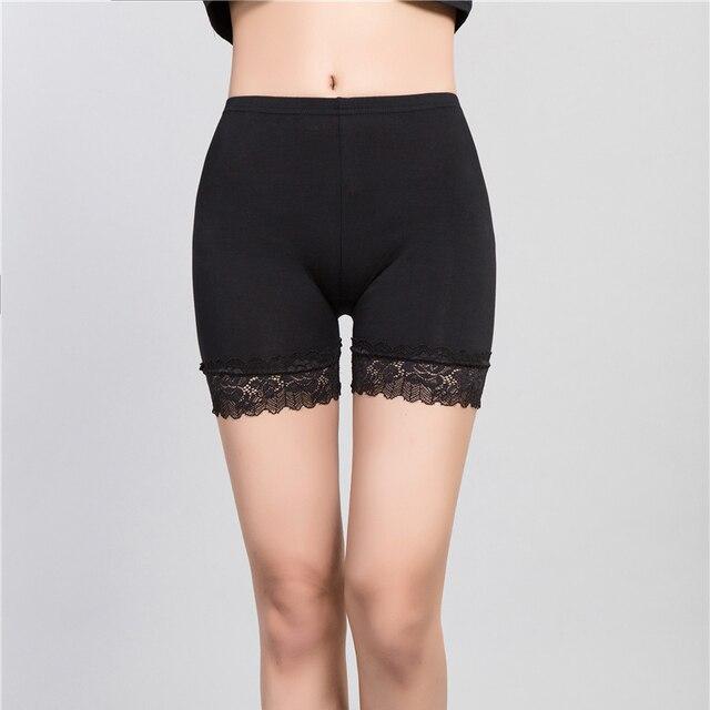 27c93a8820d9c 2018 Hot Women Safe Short Pants Tights for Women Safety Pants Under Shorts  Women Lace Leggin