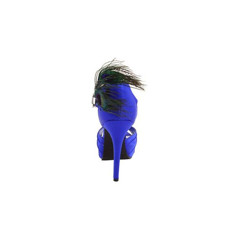 D'été Chaussures Bleu Bride Ouvert Généreux La Anniversaire Sandales De Fsj01 Cheville Talons Fsj Autum Attrayant Incomparable Femmes Mariage À Satin Bout qrSq4gP