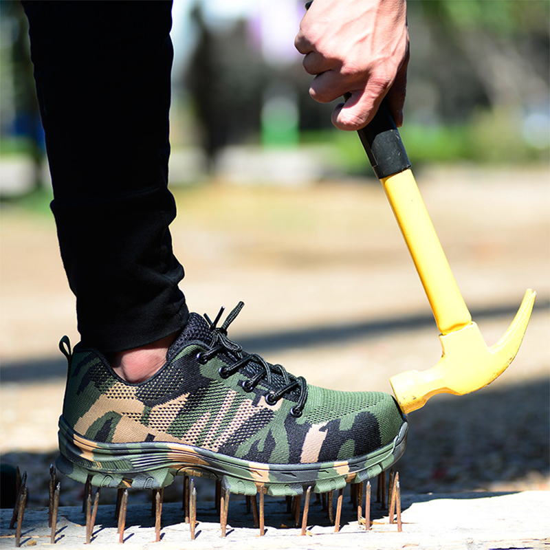 MAISMODA Toe-Cap Boots Army Steel Plus-Size Outdoor Camouflage Work Puncture-Proof Men thumbnail