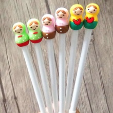1pcs/lot New Colorful Fuwa Hooded Gel Pen Multicolor 0.38mm Black Ink Cute Students Gift