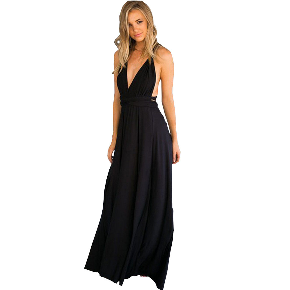 Boho style long dress Women Sleeveless Halter Bandage Party Dress Elegant Maxi Dresses shapper Halter Hollow Out fashion 2017