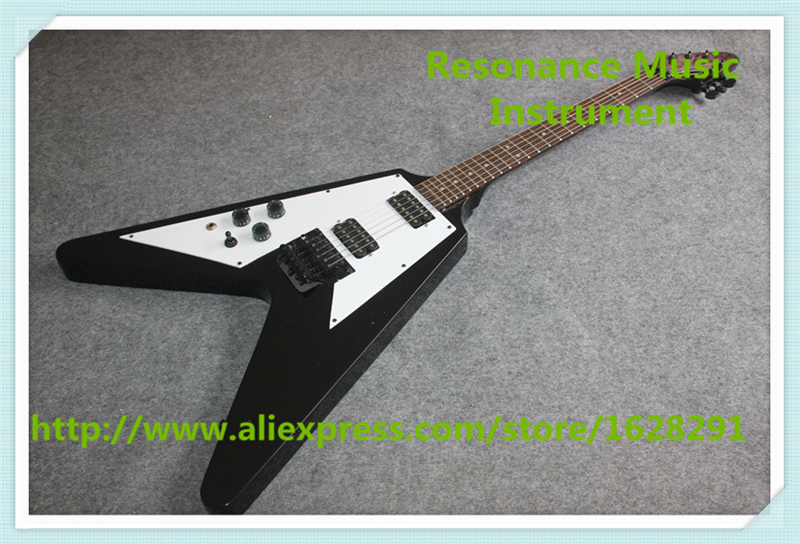 Chinese OEM Custom Shop Left Handed G Flying V Electric Guitar With Floyd Rose Tremolo For Sale new arrival glossy black left handed 7 string guitar electric china custom shop for sale