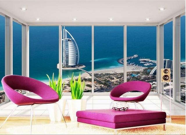 Dubai Yacht Hotel piano balcone Soggiorno camera da letto TV sfondo ...