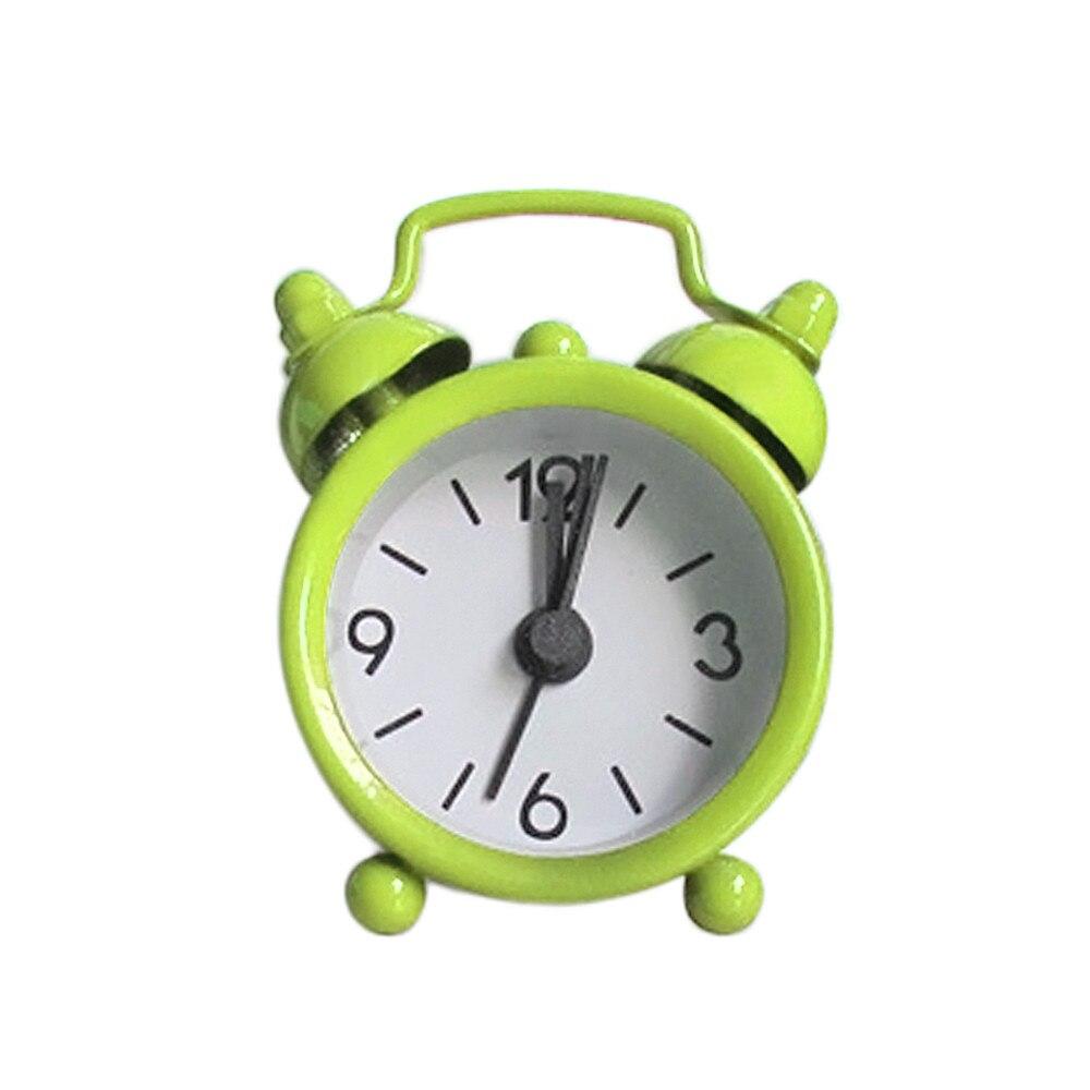 Portable Cute Cartoon Classic Kids Children Bedroom Alarm Clock Round Number Double Bell Desk Table Digital Clock Home Decor Clocks Home Decor