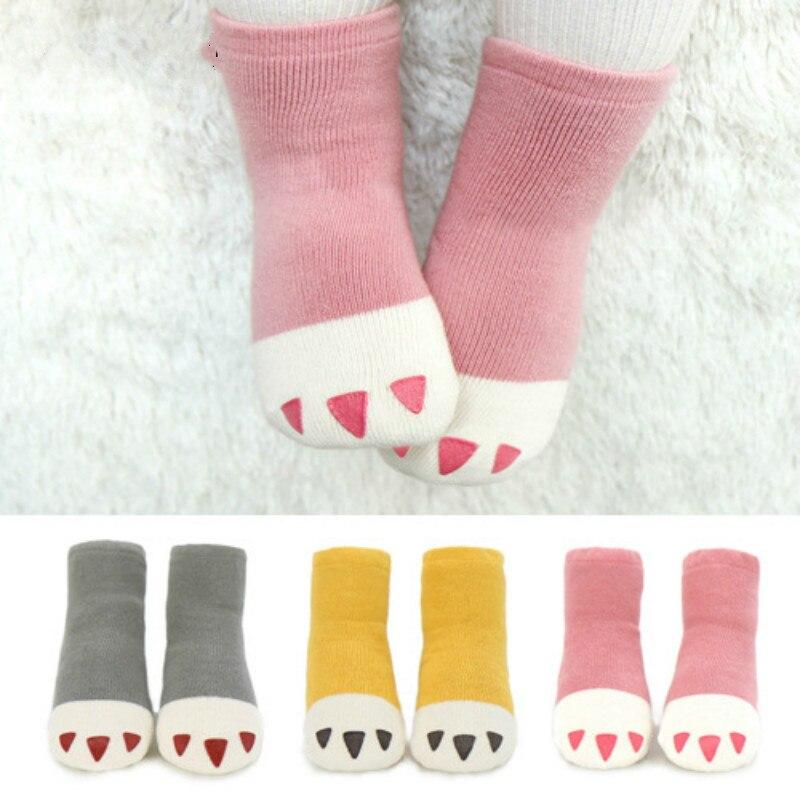 2016 Winter Baby Little PAWS sokken peuter jongens meisjes antislip - Babykleding