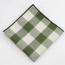 Mantieqingway хлопковый карман квадратный классический клетчатый платок для Карманный платок для костюма полосатый Карманный платок для мужчин