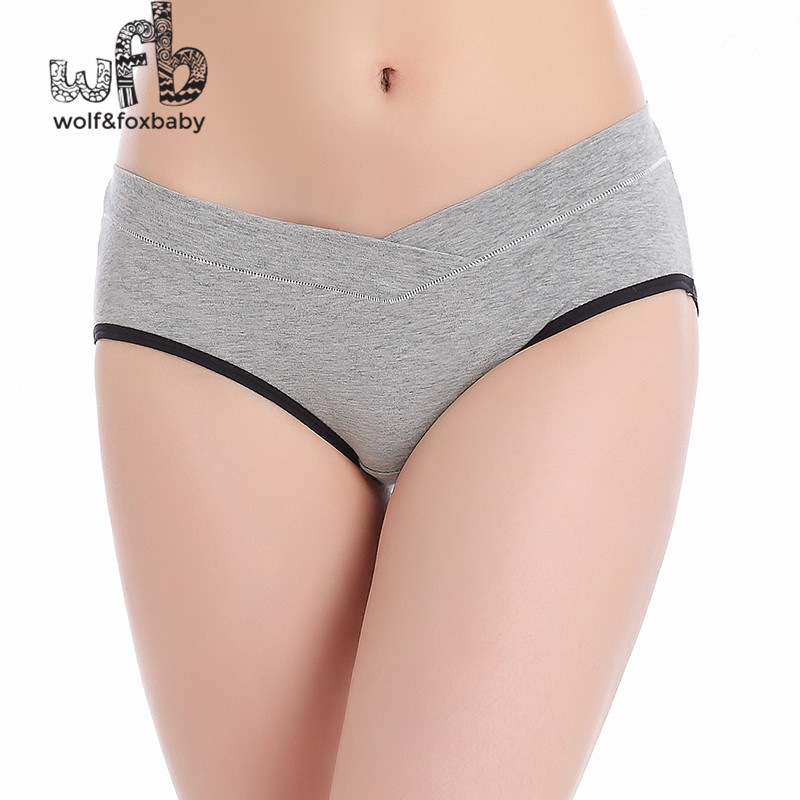 Retail cotton pregnant women underwear triangular low waist underwear care abdomen seamless underwear pregnant women shorts