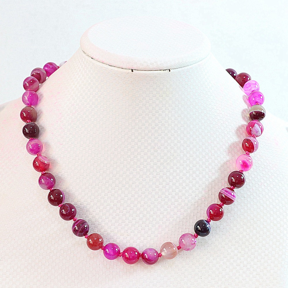 4a29d9327 Rose red stripes carnelian onyx agat stone 6mm 8mm 10mm 12mm round beads  diy necklace 18B647