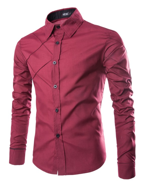 17 New Fashion Brand Men Shirt Grid 10 Colors Dress Shirt Long Sleeve Slim Fit Camisa Masculina Casual Male Shirts Model White 8