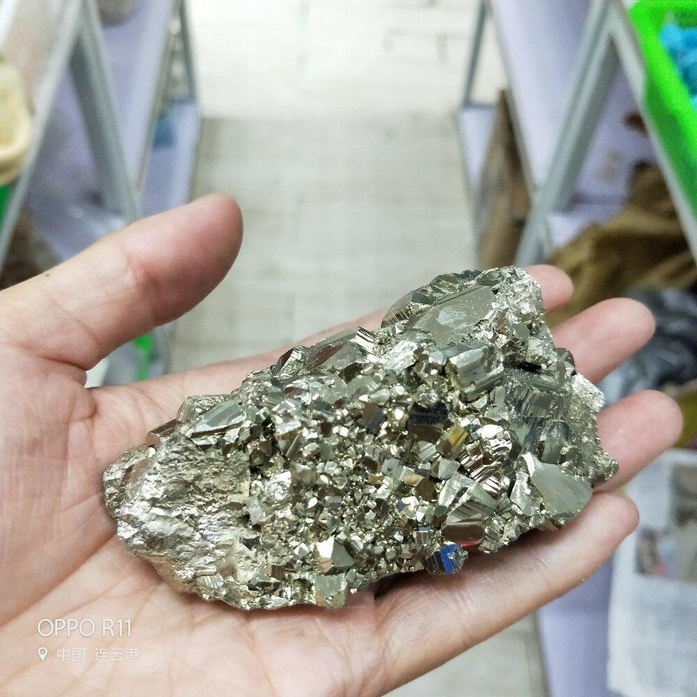 360-380g de alta calidad de piedra de cristal Natural pirita de oro hierro mineral pirita cubo el especimen curación cristales pirita