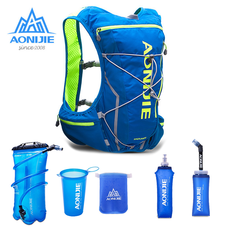 AONIJIE E904S Running Marathon Hydration Nylon 10L Outdoor Running Bags Hiking Backpack Vest Marathon Cycling Backpack