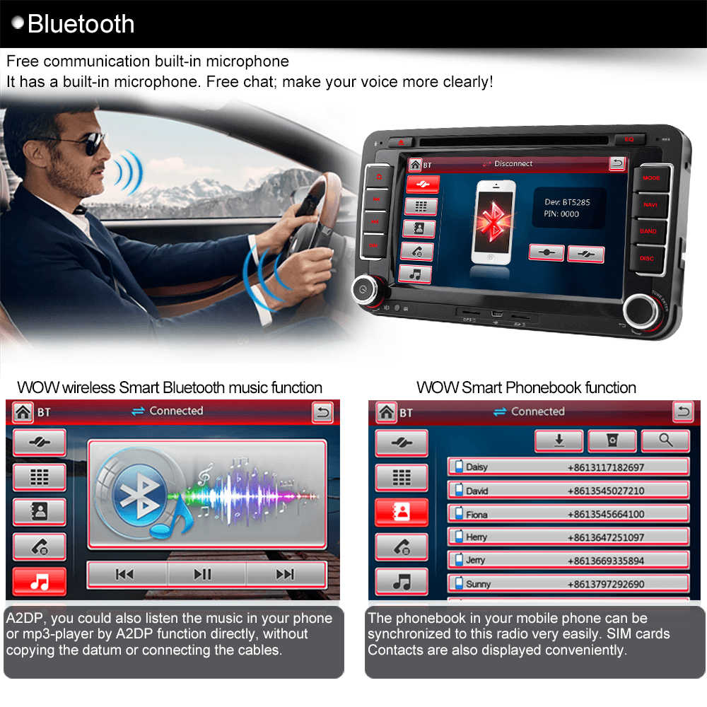 a sure 7 dvd gps radio player sat nav navigation system for vw passat  [ 1000 x 1000 Pixel ]