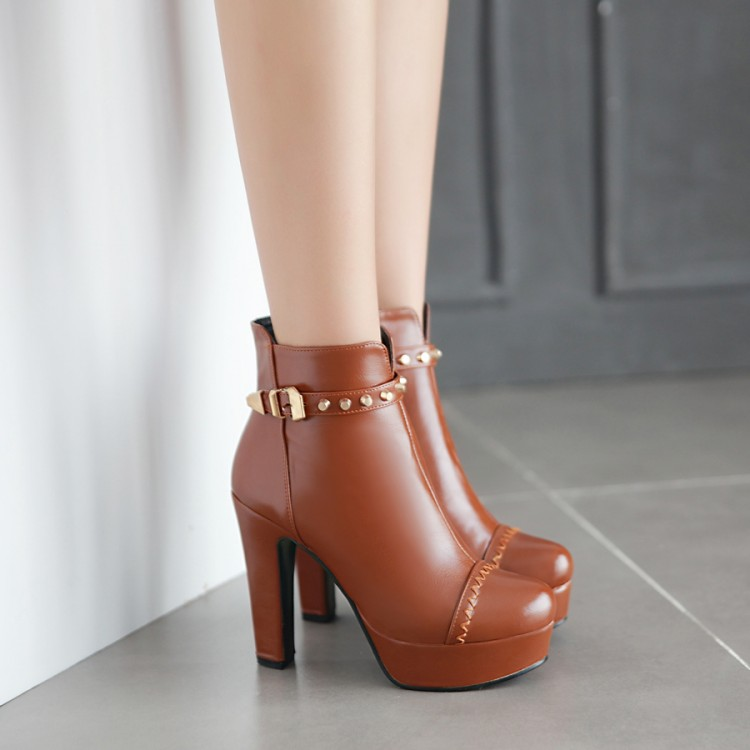 Image 4 - Winter  style thigh high women woman femininas ankle boots botas masculina zapatos botines mujer chaussure femme shoes 603 2style bootsankle bootszapatos botines -