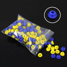 100 X Colorful TATTOO Needle Rubber Grommets Nipples For Tattoo Machine Gun Needles Supply